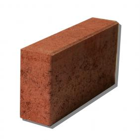 Brick concrete 12/6/25 cm thick - red with chamfer