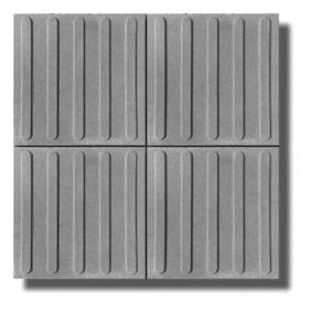 Tactile tile with stripes 40/40/5 cm - gray