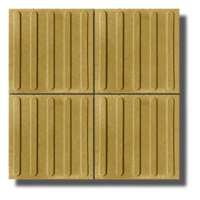 Tactile tile with stripes 40/40/5 cm - yellow /white cement/